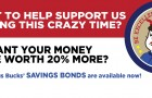 TATE'S Savings Bonds are worth 20% MORE than you spend!