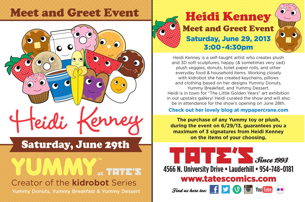 Tates comics toys more heidi kenney meet and greet event link to flyer m4hsunfo