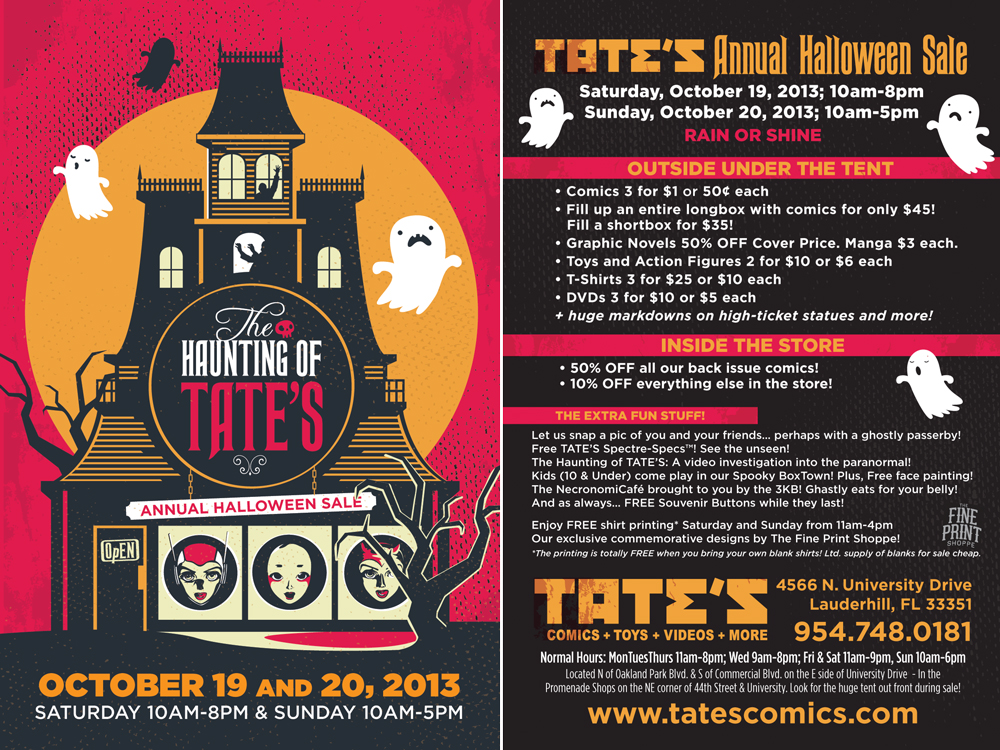 halloween sale haunting of tates theme 4x6_halloween2013_front tates annual halloween sale - Halloween Sales