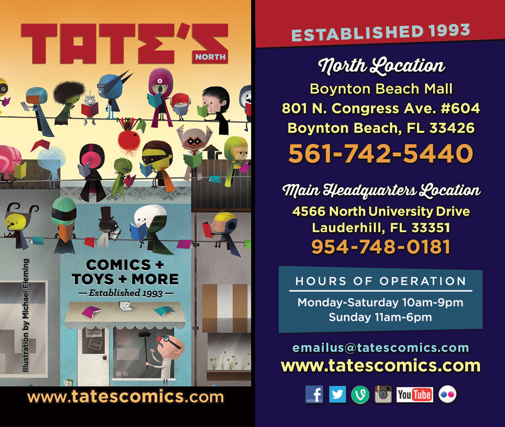 Just sent the TATE'S North business card to the printer!