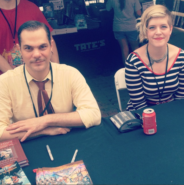 Kate Leth and Mark Evanier
