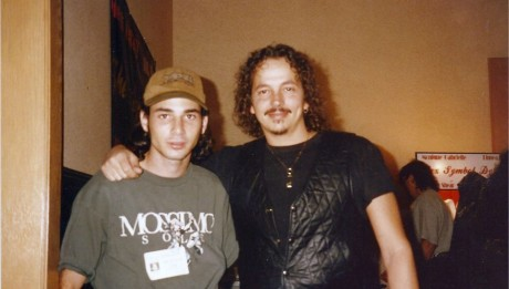 A young Tate and Kevin Eastman at Chiller Theater, horror convention in New Jersey, about 1994.