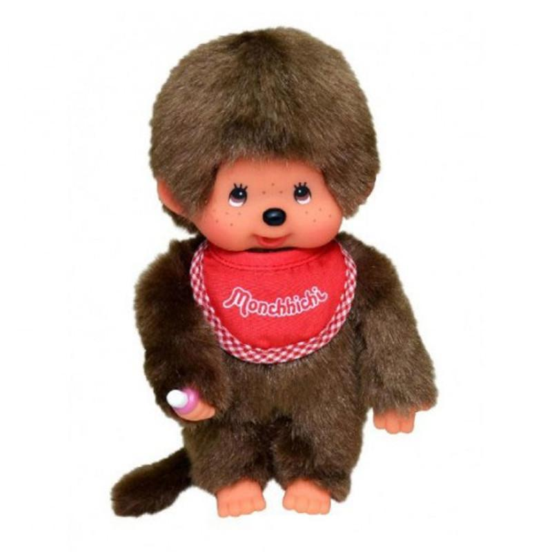 Monchhichi_boy_red_bib