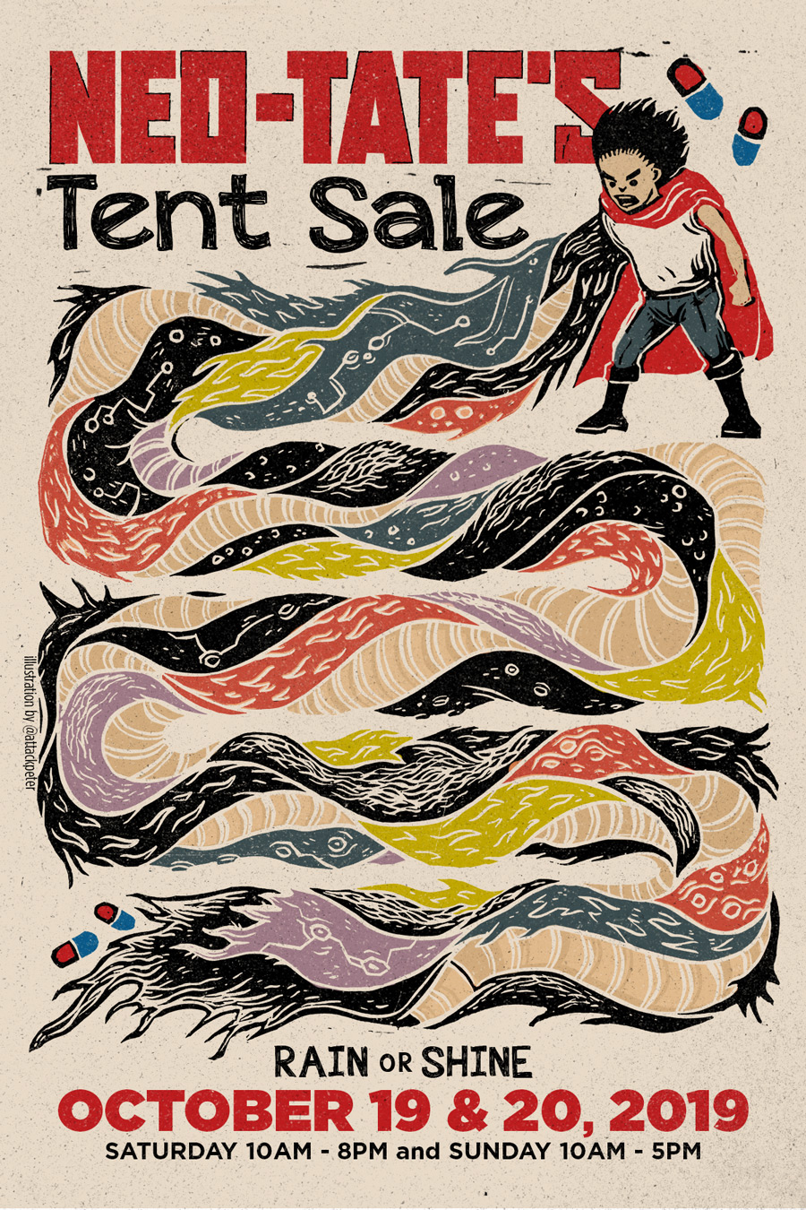 Neo-TATE'S Tent Sale Flyer Front